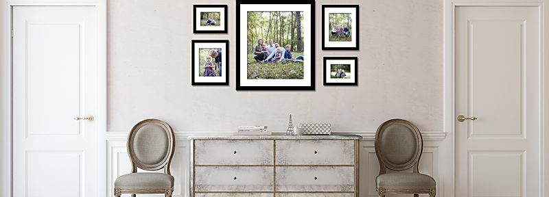 Wall Gallery-family-portrait-wall display-photo
