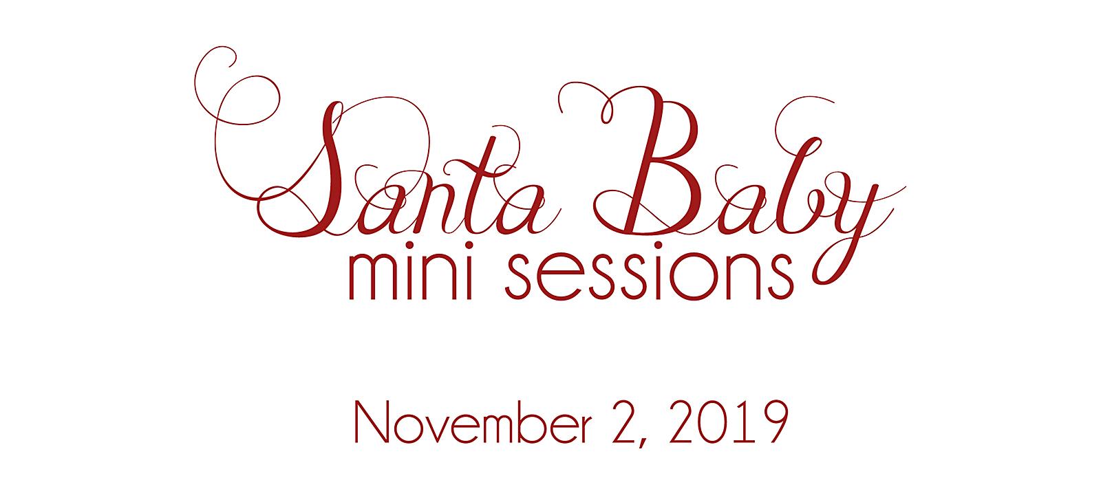 Santa baby mini sessions